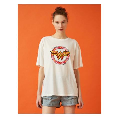 Koton Men's White Short Sleeve Tshirt
