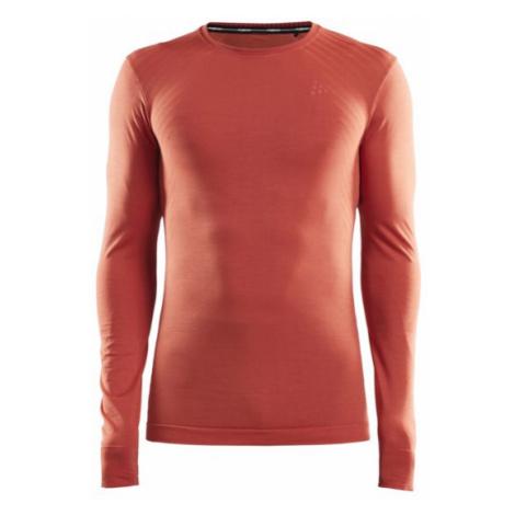 Pánské tričko CRAFT Fuseknit Comfort LS oranžová