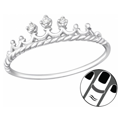 OLIVIE Stříbrný midi prsten KORUNKA 4013