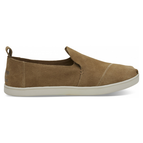 DECONSTRUCTED ALPARGATA-Toffee Suede Cupsole Toms