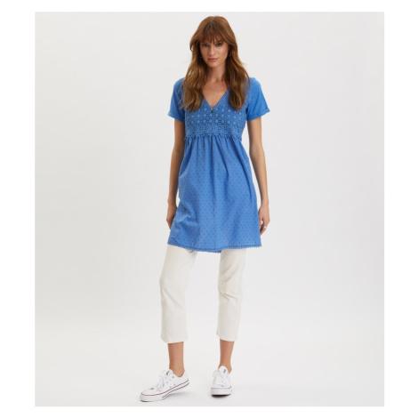 Šaty Odd Molly Finest Embroidery Dress - Modrá