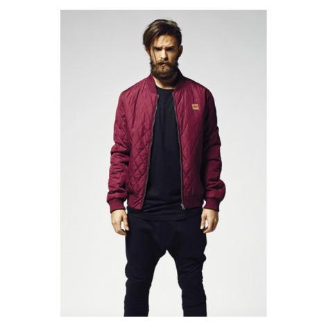 Urban Classics Diamond Quilt Nylon Jacket burgundy