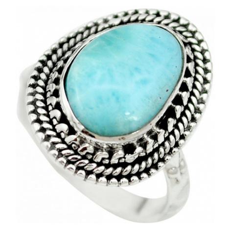 AutorskeSperky.com - Stříbrný prsten s larimarem - S3163