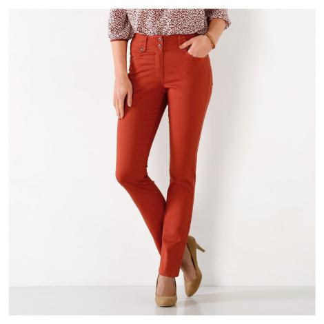 Blancheporte Rovné kalhoty s vysokým stahujícím pasem paprika