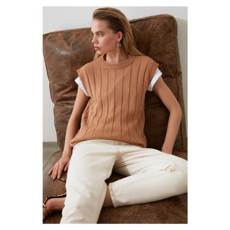 Trendyol Camel Knit Sweater