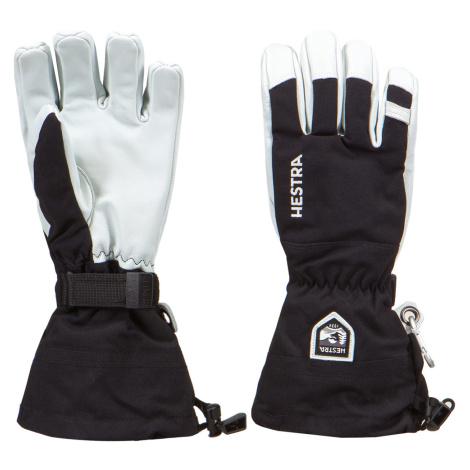Lyžařské rukavice Hestra ARMY LEATHER HELI SKI bílá|černá