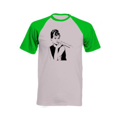Pánské tričko Baseball Audrey Hepburn