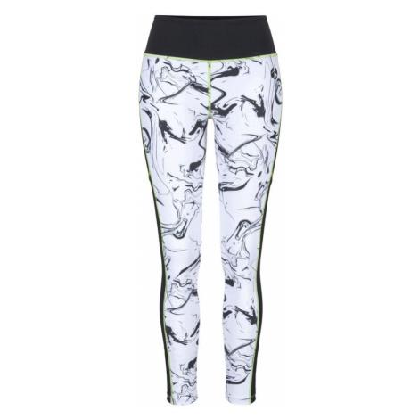 LASCANA ACTIVE Sportovní kalhoty černá / bílá