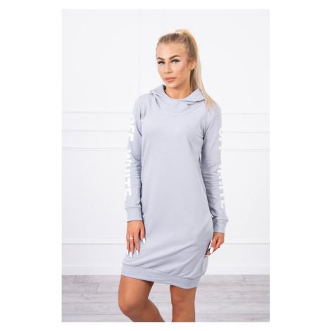 Dress Off White gray Kesi