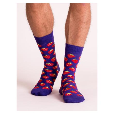 Pánské fialové ponožky s potiskem FPrice
