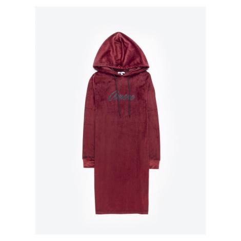 GATE Mikinové šaty s nápisem a kapucí