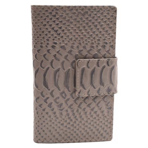 Tmavě šedá dámská kožená peněženka s hadím vzorem Haley Mercucio