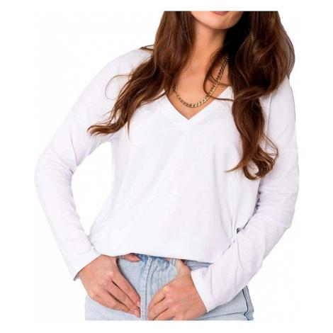 Bílé dámské tričko s dlouhým rukávem BASIC