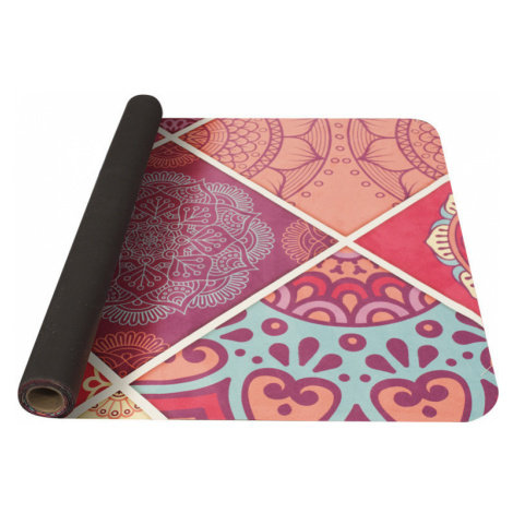 Podložka na jógu Yate Yoga Mat 1850x680x1 mm vzor A růžová