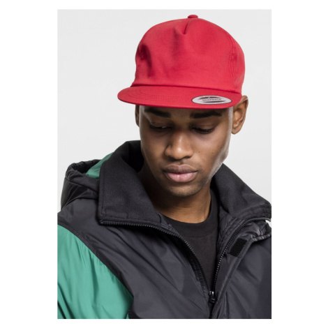 Unstructured 5-Panel Snapback - red Urban Classics