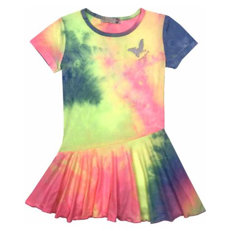 Dívčí šaty - KUGO BS3286, duhová