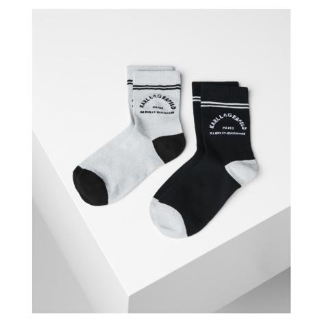 Ponožky Karl Lagerfeld Rue St Guillaume Socks 2-Pack - Černá
