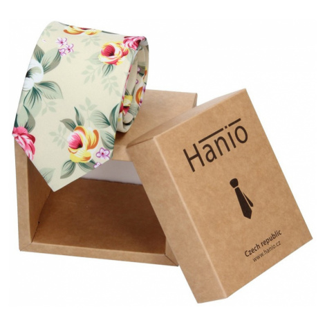 Pánská hedvábná kravata Hanio Lucas - zelená