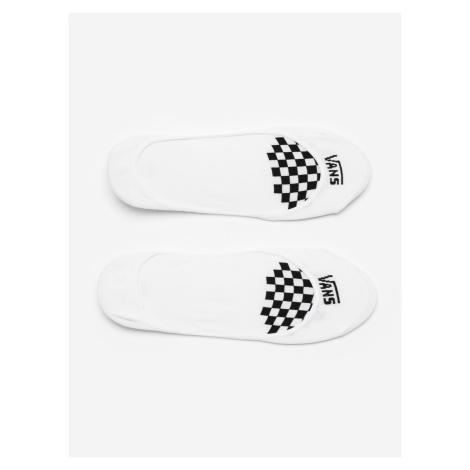 Ponožky Vans Wm Girly No Show 6.5 White/Black Bílá