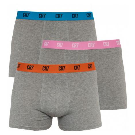 3PACK pánské boxerky CR7 šedé (8100-49-2690)