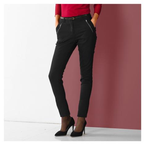 Blancheporte 7/8 kalhoty se zipy a kapsami černá