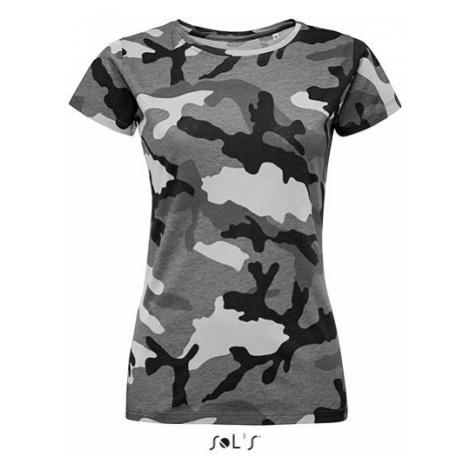 Vojenské tričko SOL'S - Military Dámské grey