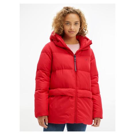 Tommy Hilfiger dámská červená bunda TH ESS SORONA