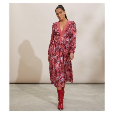 Šaty Odd Molly Jacqueline Dress - Červená