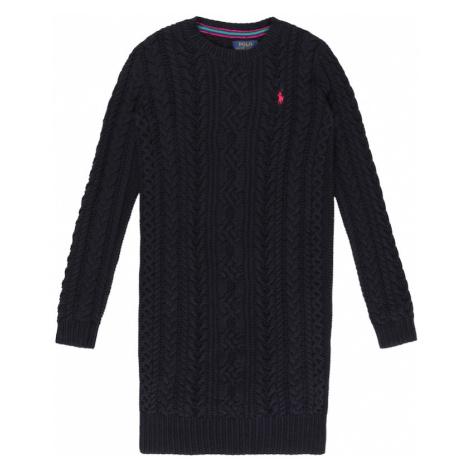 Polo Ralph Lauren Šaty 'ARAN' námořnická modř / červená