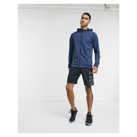 Adidas FreeLift hoodie in legend ink melange-Navy