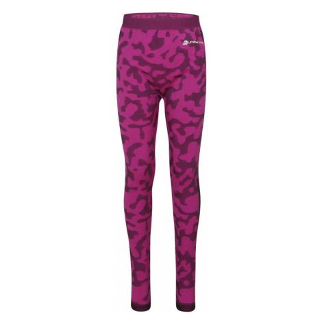 ALPINE PRO EMERO Dětské spodní kalhoty KUNS025411PB fuchsiová