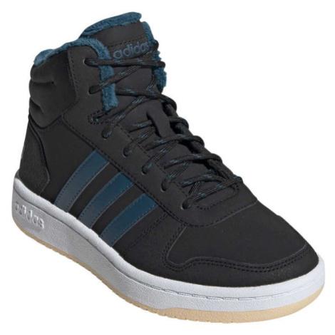adidas HOOPS MID 2.0 K tmavě modrá - Dětská zimní obuv