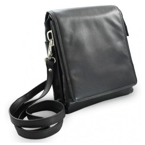 Černý velký kožený pánský crossbag Angela Arwel
