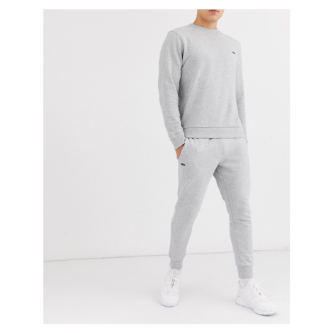 Lacoste slim fit basic joggers in grey