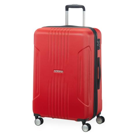American Tourister Střední cestovní kufr Tracklite Spinner EXP 71/82 L - červená