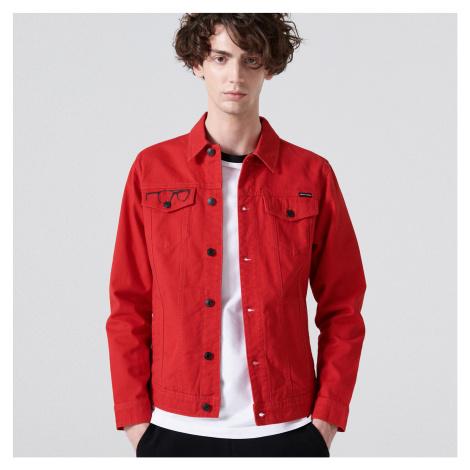 Cropp - Džínová bunda La Casa De Papel - Červená