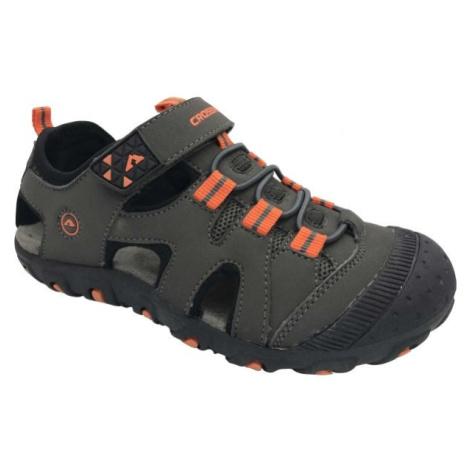 Crossroad MUGEN tmavě šedá 35 - Dětské sandály