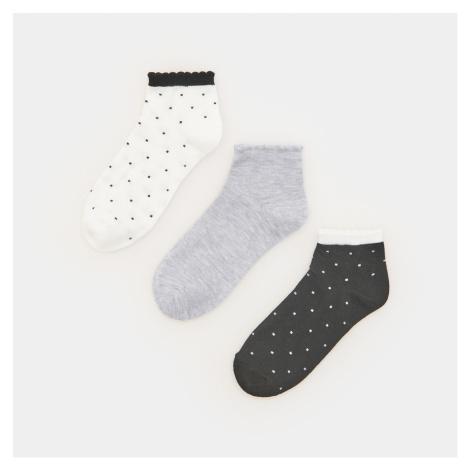 Sinsay - Sada 3 párů vzorovaných ponožek - Černý