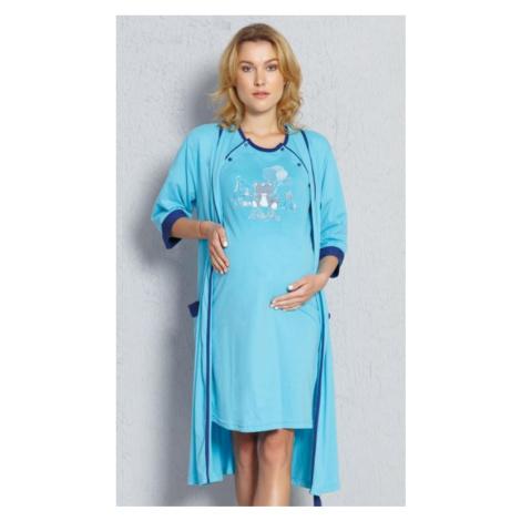 Dámský župan s mateřskou košilí Vienetta Secret Baby | tyrkysová