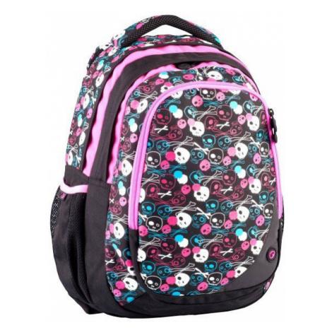 Bagmaster dívčí školní batoh -lebka SKULL 0114 A