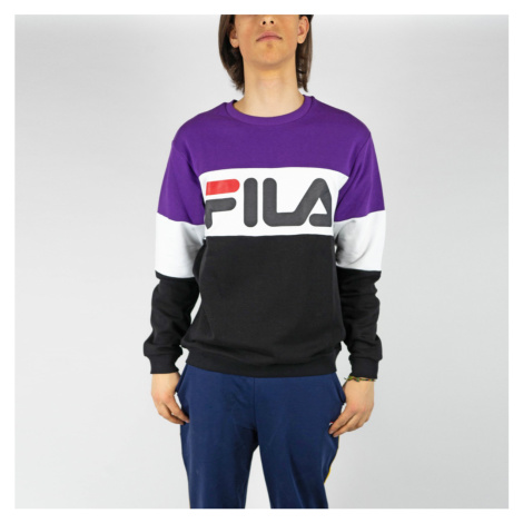 Fialovo-bílé tričko Straight blocked crew Fila