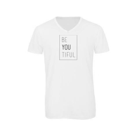 Pánské triko s výstřihem do V Be you tiful