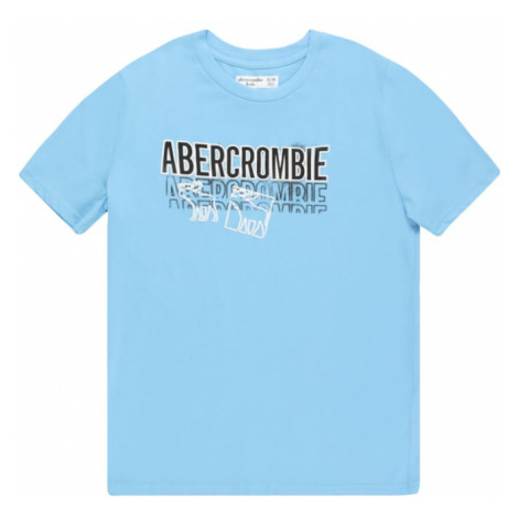 Abercrombie & Fitch Tričko světlemodrá / bílá / černá