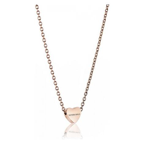 Victoria Walls Růžově pozlacený náhrdelník se srdíčkem VN1051R