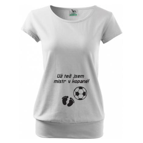 Tričko pro těhotné Už teď jsem mistr v kopané BezvaTriko