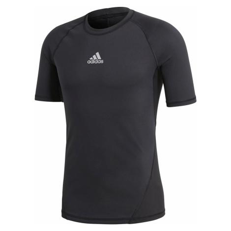 Termo tričko adidas Alphaskin Shortsleeve Černá