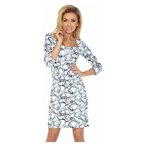 Módní dámské šaty Numoco 136-1   bílá