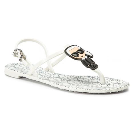 Bílé sandály - KARL LAGERFELD | Ikonik