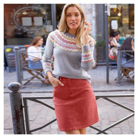 Blancheporte Barevná rozšířená sukně rezavá