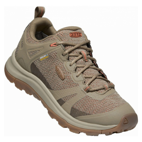KEEN TERRADORA II WP W Dámská outdoorová obuv 10012266KEN01 timberwolf/coral